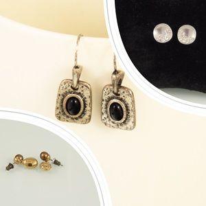 3 vintage pairs of earrings Monet & Lia Sophia
